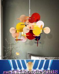Wholesale Bau lampe Modern Creative Designer Parquet Blocks Colorful Wooden Children s Room Chandelier Building Blocks Lamp Pendant Lights MYY