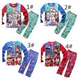 Wholesale 2016 Dog Paw Pajamas Set Kids Christmas Clothing Set Styles Pet Dog Outfits Sets Spring Autumn Sleeping Clothes Free DHL