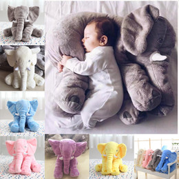 Wholesale Hot Elephant Pillow Baby Doll Children Sleep Pillow Birthday Gift INS Lumbar Pillow Long Nose Elephant Doll Soft Plush