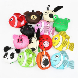 Wholesale Newest styles New Cute Useful Animal Bee Panda Pig Dog Rabbit Foldable Eco Reusable bag Shopping Bags A0136