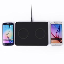 Promotion chargeur lumia Gros-5pcs / lot Mat de charge Chargeur Transmetteur Double Qi Wireless Pad double pour Samsung Galaxy Note 5 S6 S6Edge Nokia Lumia 920/830
