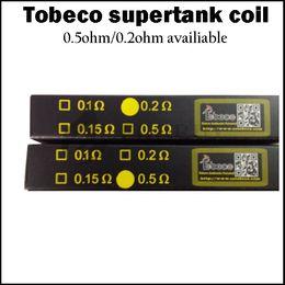 Wholesale 100 authentic Tobeco Super Tank Coils ohm Ohm OCC Coil for Super Tank mm supertank mini mm rta atlantis v2 atomizer