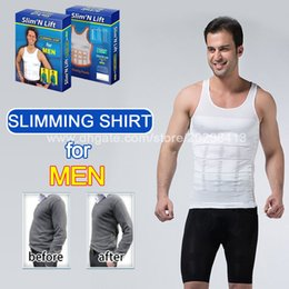 Wholesale body shaper for men slimming n lift underwear strong elastic tummy control shapewear white vest design for men shirts