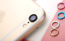 Wholesale 2016 New Metal Silver Outer Protective Circle Lens Camera Protection Ring Cell Phone Webcam Parts For iPhone s iPhone Plus
