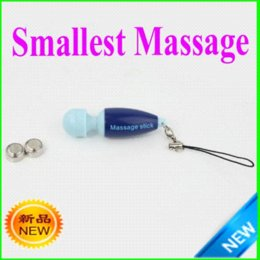 Wholesale new smallest Cute Portable Massage Blue keyring digital massager stick hot on ebay