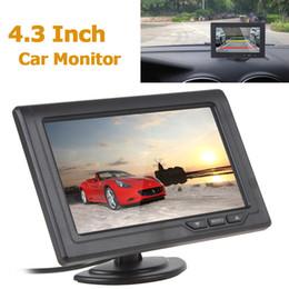 Lcd moniteur d'affichage vidéo en Ligne-4,3 pouces 480 x 272 écran LCD couleur TFT 2 canaux d'entrée vidéo arrière de voiture Moniteurs support multi-rôle affichage CMO_332
