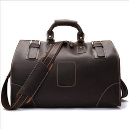 New 100% Cow Leather (crazy horse leather) large capacity retro travel bag for men and women luggage bag handbags travel case