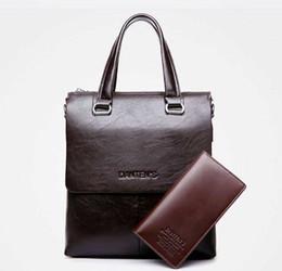 Men Genuine Leather Handbag Briefcase Laptop Shoulder Bag Messenger Fashion Business Bags Brand Design