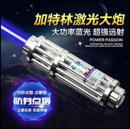.High Quality Super Blue Laser Pointers Flashlight Shoot bird Combustion Lgnition   Cutting  Irradiate burn paper 10000m laser pen blue
