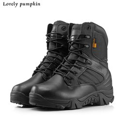 Wholesale 2016 New Delta Brand Military Tactical Boots Desert Combat Outdoor Army Hiking Travel Shoes Leather boats Autumn Ankle Men Boots