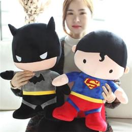 2017 superhéroes juguetes de peluche EMS 2 estilo de los niños super héroe peluche Juguetes de peluche de dibujos animados 19,7 pulgadas muñeca suave muñeca de caracteres de la película E806 económico superhéroes juguetes de peluche