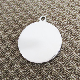 100pcs lot Stainless steel Out-hole Circle blank Dog tags pet dog ID tags fashion men pendants