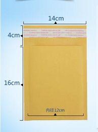 Compra Online Burbuja de papel kraft-2 * 16 CM + 40m m Kraft Paper Mail Envoltura Bolso PE burbuja rellenado Sobres Embalaje Bolsos Suministros de envío de alta calidad