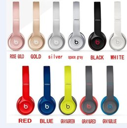 Wholesale 13 Color choose Used Beats solo2 Wireless Active collection Headphones Noise Cancel Bluetooth Headphones Headset with seal retail box