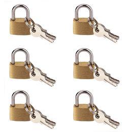 Wholesale 6 MM Small Metal Padlock Mini Brass Tiny Lock Travel Luggage Suitcase Bag Padlocks With Key Anti theft Locks