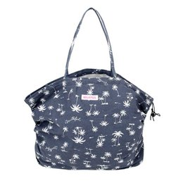 Wholesale MZ146 Casual Denim CANVAS Drawstring Closure Handbag Tote shopping bag Japanese Magazine Gift