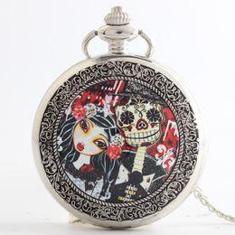 Ancient Nightmare Before Christmas bolsillo relojes collares tirón locket cuarzo reloj relojes mujeres mujeres niños regalo de Navidad 230211 woman necklace clock promotion desde mujer del reloj del collar proveedores
