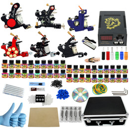 Wholesale New Arrival tattoo kit tool bag big configuration complete tattoo equipment machine color tattoo machine suit