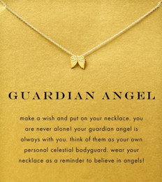 With card! Silver and gold color cute Dogeared Necklace with angel wing (Guardian Angel), no fade, free shipping and high quality.