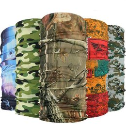 Promotion foulards gros anneaux Grossiste-2016 Bicyclette De Sport En Plein Air Bandana Bandana Bandoulière Feu De Camouflage Seamless Tubulaire Magic Bandanas Echarpe Tube Ring