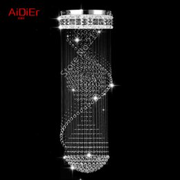 New high quality 3 ball chandelier villa penthouse floor living room stairs crystal chandelier lamp hotel project Luxury lamp