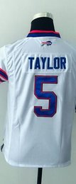 Wholesale 2016 BB Tyrod Taylor Youth Football Jerseys Best quality Authentic Jersey Size S M L XL Mix Order