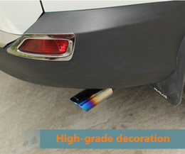 Wholesale 1 Stainless Steel Car Exhaust Muffler Tip Pipes For Toyota Rav4 RAV High quality Auto Accessories