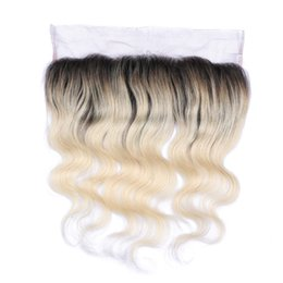 New Arrival Ombre Color #1B 613 Lace Frontal Closure Glueless Blonde 613 Ear To Ear Full Lace Frontal With Baby Hair For Woman