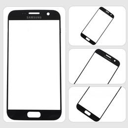 Promotion écrans lcd samsung Pour Samsung S7 Blue Gold (noir) blanc Remplacement écran LCD tactile avant verre externe Objectif pour Samsung S7 DHL SNP021 gratuit