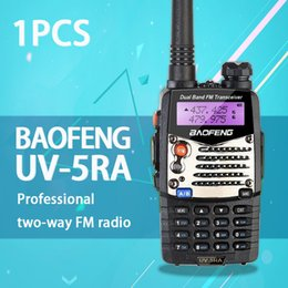 Wholesale-(1 pcs)Baofeng UV5RA Ham Two Way Radio walkie talkie Dual-Band Transceiver (Black)