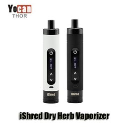 Wholesale 100 Original Yocan iShred Dry Herb Vaporizer Pen Kits mah Battery with built in grinder and stir pin