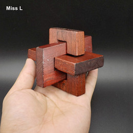 Slanting Three-Dimensional Wooden Kong Ming Lock Adult Children Educational Toys Interactive Game Kids Gifts Gift Teaching Prop Mind Game