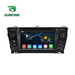 Descuento consola gris Estereofonia del coche del jugador de la navegación del GPS del coche del androide 5.1.1 del patio 1024 * 600 de la base 1024 * 600 para la radio 3G Wifi BluetoothK KF-V2231Q de Toyota Corolla 2014