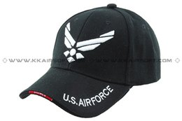 Wholesale U S Military Air Force logo Baseball Cap Black