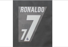 2016-2017 Real Madrid Home Away Custom soccer Nameset Customize Name A-Z Number 0-9 Print Player nameset
