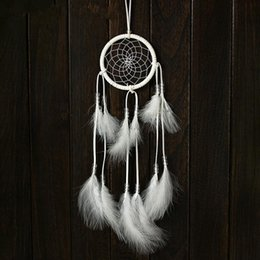 Wholesale Fashion Charms White Handmade Dreamcatcher Net Feather Pendant Hanging Decoration Ornament For Home Car Office Shop