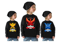 Boy Pocket Monster Sweater 3 Designs Spring and Autumn Pikachu Long Sleeve Clothes Cartoon Poke Cotton Baby Clothing Kids hoodies