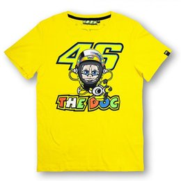 Wholesale Hot VRfortysix Valen Rossi VR46 cartoon villain Moto GP MOTOGP Rossi AGV motorcycle racing suits cotton knight T shirts