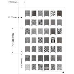 11 Pcs Nail Art Outils d'impression Modèle d'impression Dessin coloré ou motif feuille de métal Impression couleur noyau à partir de feuille de métal arts fournisseurs