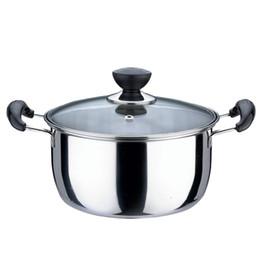 Wholesale Thickening stainless steel pot big soup pot instant noodles pot casserole furnace cookware