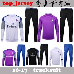 Wholesale Real Madrid tracksuits RONALDO JAMES BALE RAMOS MODERIC best quality long sleeve tracksuit training real madrid jacket kit