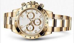 Wholesale De alta calidad para hombre relojes de lujo movimiento automático de línea blanca de acero inoxidable reloj de pulsera de oro del día relojes de los hombres de banda del diamante del oro A8