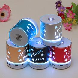Bluetooth Mini Speaker Outdoor Speakers Wireless LED Light Colored Flash Handsfree Stereo FM Radio TF USB Sound System Super Bass Sound KH