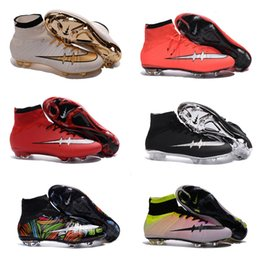Wholesale 2016 Champions League Mercurial Superfly Heritage VI CR7 FG Soccer Shoes Magista Obra Football Boots ACC Outdoor Hypervenom II Soccer Cleats