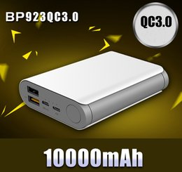 Wholesale QC3 Fast Charge Commercial Mobile Power Supply High Performance Iphone Android Security Power Bank mAh