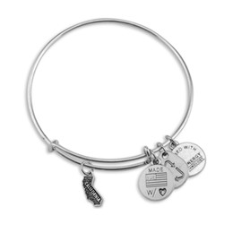 Wholesale Alex and Ani American Maps Adjustable statement bracelets Silver Charms Wiring Expandable Pendant Bangles Band Cuffs