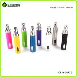 2016 patentes innovadoras 9 colores gs ii ego de la batería 2200mAh ego ego ego 2200mAh GS II 2200mah ego ii batería precio de fábrica al por mayor desde precios al por mayor para las baterías del ego fabricantes