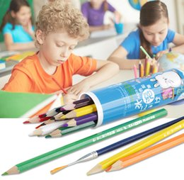 Wholesale colour pencil Write painting canister Sketch Coloring color Water soluble pencilchildren Beginner Artist Student Non toxic Secret Garden