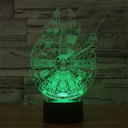 Wholesale 2016 new D acrylic panel LED lighting a small lamp Star Wars Millennium strange baby child resting decorative lamp D TD02
