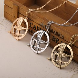 Wholesale The Hunger Games Necklaces Inspired Mockingjay And Arrow Pendant Necklace Authentic Prop imitation Jewelry Katniss Movie In Stock